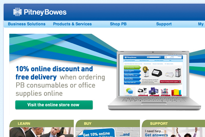 Pitney Bowes – A friendly approach